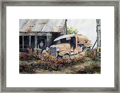 Jeromes Tank Truck Framed Print