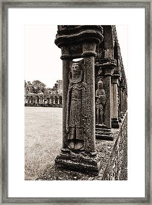 Jerpoint Abbey Cloister Stone Figures Framed Print