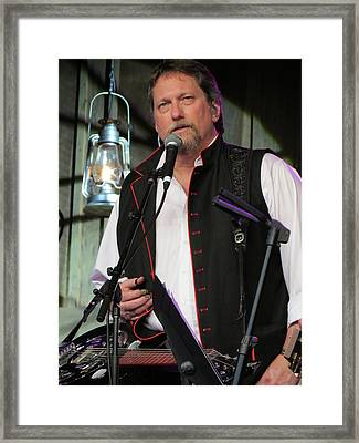 Jerry Douglas 02 Framed Print by Julie Turner