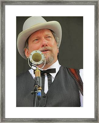 Jerry Douglas 03 Framed Print by Julie Turner