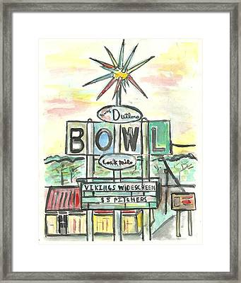 Jerry Dutler's Bowl Framed Print by Matt Gaudian