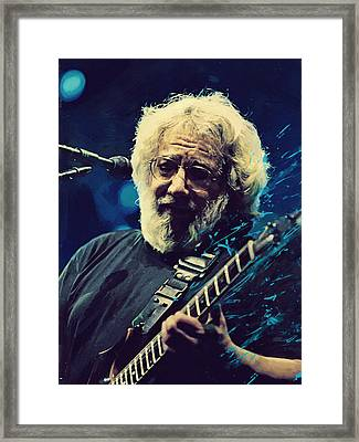 Jerry Garcia Framed Print by Afterdarkness