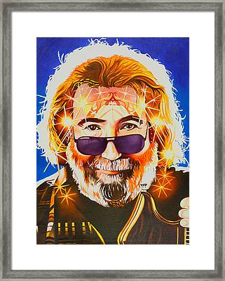 Framed Print featuring the painting Jerry Garcia-dark Star by Joshua Morton
