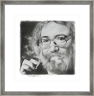 Jerry Garcia Framed Print by Don Medina
