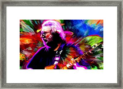 Jerry Garcia Grateful Dead Signed Prints Available At Laartwork.com Coupon Code Kodak Framed Print