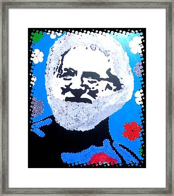 Jerry Garcia In Full View Framed Print by Robert Margetts