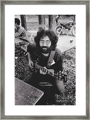 Jerry Garcia In The Park Framed Print by Pd