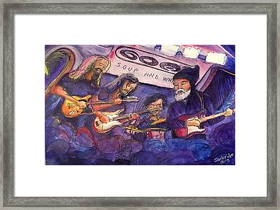 Framed Print featuring the painting Jerry Joseph And The Jackmormons by David Sockrider