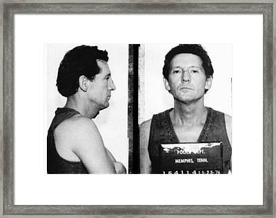 Jerry Lee Lewis Mug Shot Horizontal Framed Print by Tony Rubino
