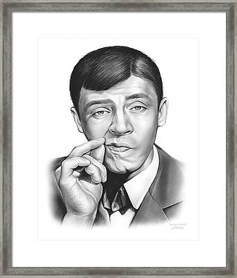 Jerry Lewis Framed Print by Greg Joens