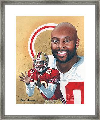 Jerry Rice Framed Print by Gary Thomas