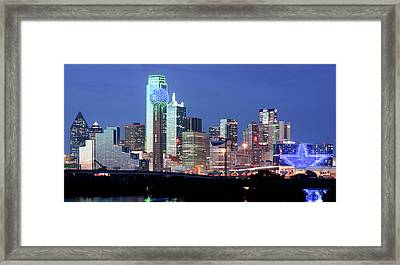 Jerry's Dallas Skyline Framed Print