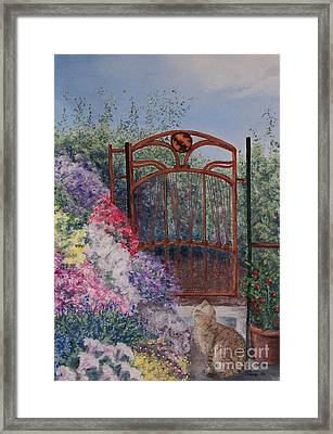 Framed Print featuring the painting Jerrys Garden by Stanza Widen