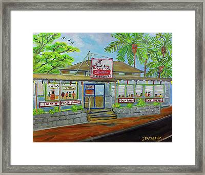 Jerrys Sweet Shop, Haleiwa Hawaii Framed Print by Julie Patacchia