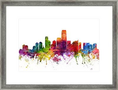 Jersey City Cityscape 06 Framed Print by Aged Pixel