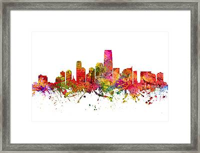 Jersey City Cityscape 08 Framed Print by Aged Pixel