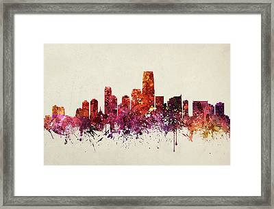 Jersey City Cityscape 09 Framed Print by Aged Pixel