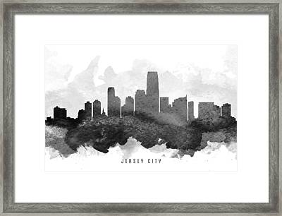 Jersey City Cityscape 11 Framed Print by Aged Pixel