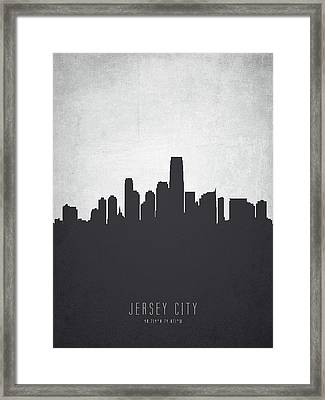 Jersey City New Jersey Cityscape 19 Framed Print by Aged Pixel