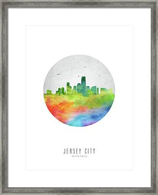 Jersey City Skyline Usnjjc20 Framed Print by Aged Pixel