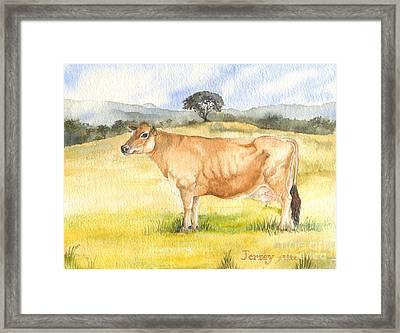 Jersey Cow Framed Print by Sandra Phryce-Jones