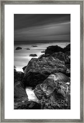Jersey Shore At Night Framed Print