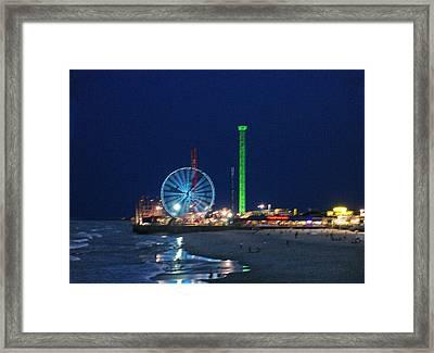 Jersey Shore Framed Print by Steve Karol