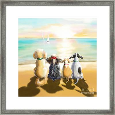 Jersey Shore Sunrise  Framed Print by Catia Cho