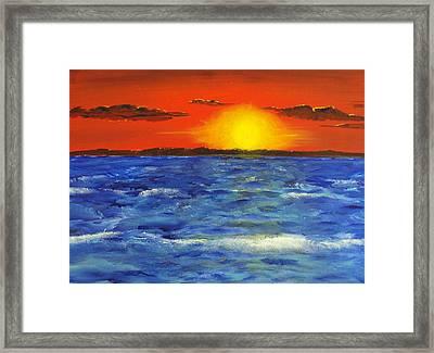 Jersey Shore Sunset Framed Print