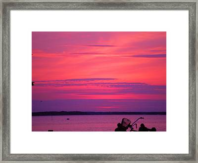 Framed Print featuring the photograph Jersey Sunset by Susan Carella