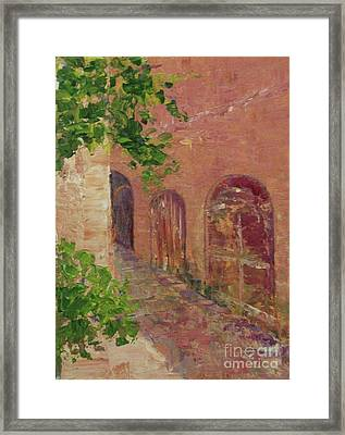 Jerusalem Alleyway Framed Print by Gail Kent