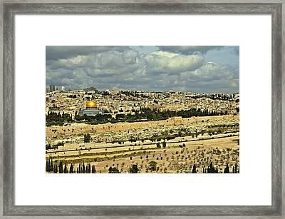 Jerusalem Awaits Her King II Framed Print by Deb Cohen