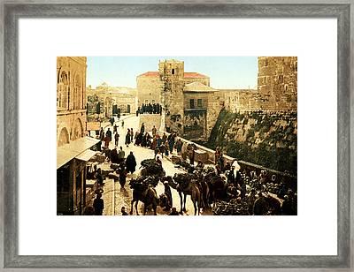 Jerusalem Bazaar 1890 Framed Print