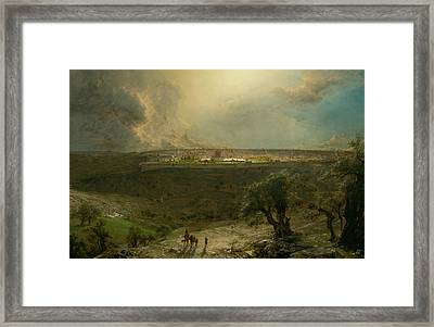 Jerusalem From The Mount Of Olives Framed Print by Frederic Edwin Church
