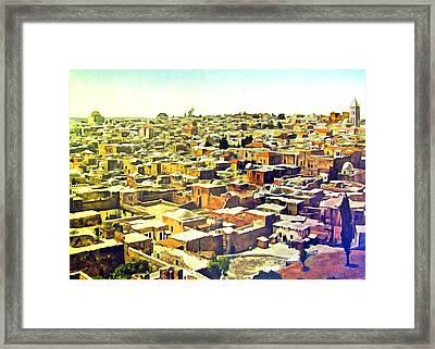 Jerusalem From The Tower Of Antonia Framed Print by Munir Alawi
