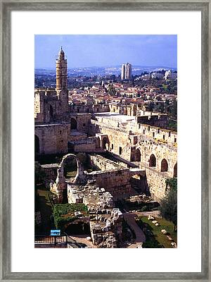 Jerusalem From The Tower Of David Museum Framed Print by Thomas R Fletcher