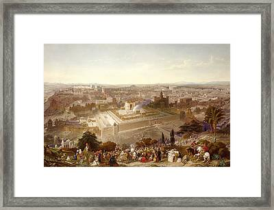 Jerusalem In Her Grandeur Framed Print by Henry Courtney Selous