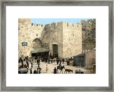 Jerusalem: Jaffa Gate Framed Print by Granger