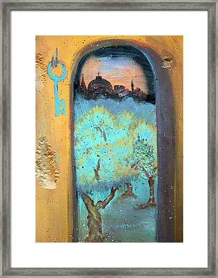 Jerusalem Key Framed Print