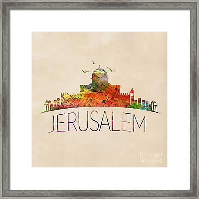 Jerusalem Framed Print by Mark Ashkenazi