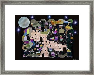 Jerusalem Moon Framed Print by Sher Magins