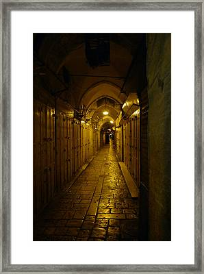 Framed Print featuring the photograph Jerusalem Of Copper 1 by Dubi Roman