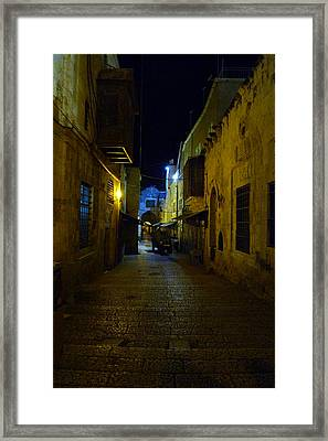 Framed Print featuring the photograph Jerusalem Of Copper 3 by Dubi Roman