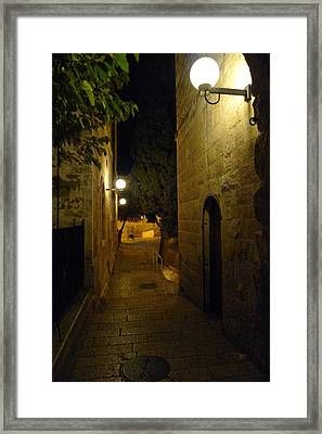 Framed Print featuring the photograph Jerusalem Of Copper 4 by Dubi Roman