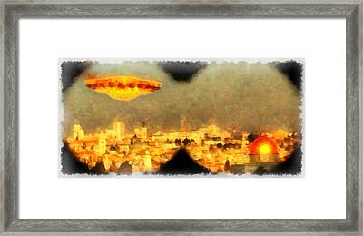 Jerusalem Revelation Framed Print by Esoterica Art Agency