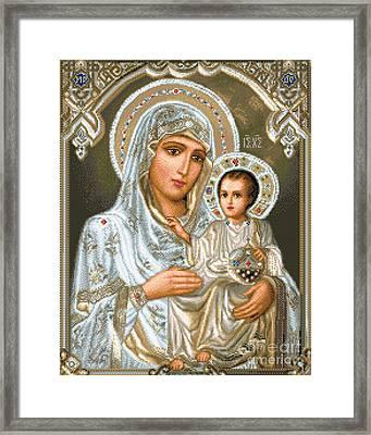 Jerusalem Theotokos Framed Print by Stoyanka Ivanova