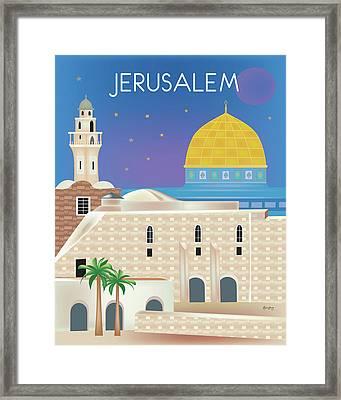 Jerusalem Vertical Scene Framed Print