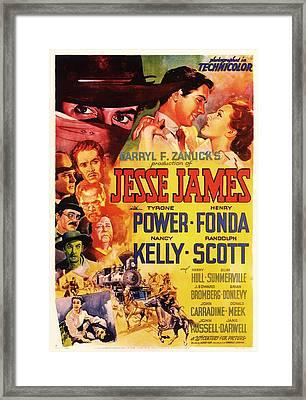 Jesse James 1939 Framed Print by Mountain Dreams