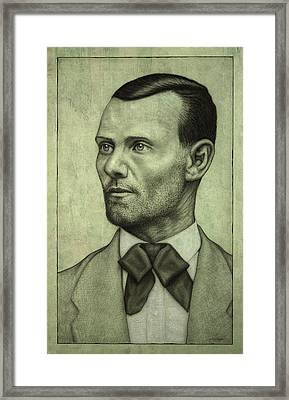Jesse James Framed Print by James W Johnson