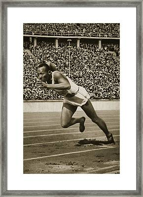 Jesse Owens Framed Print by American School